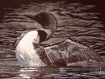 Painting - Loon Dance by Margaret Sarah Pardy