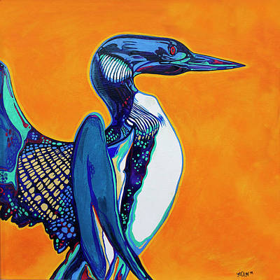 Loon Painting - Loon by Derrick Higgins