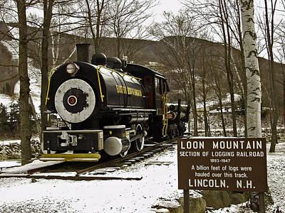 Loon Mountain Logger Art Print