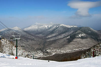 Loon Mountain Ski Resort White Mountains Lincoln Nh Art Print by Glenn Gordon