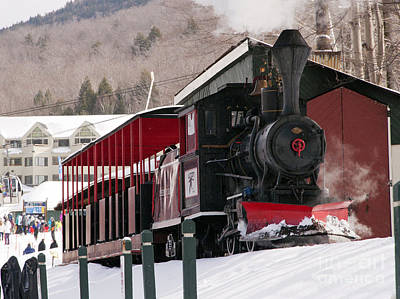 Photograph - Loon Mountain Steam Train by Glenn Gordon