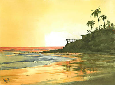 Ray Cole Painting - Loon Point by Ray Cole