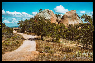 Loop Trail Scenery At Enchanted Rock State Natural Area - Texas Hill Country Art Print by Silvio Ligutti