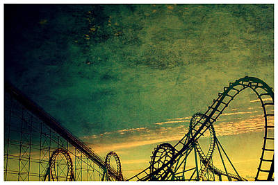 Rollercoaster Mixed Media - Loopy by Linda Plaisted
