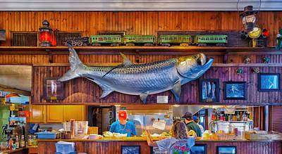 Old Caboose Photograph - Loose Caboose Restaurant - Boca Grande by Frank J Benz