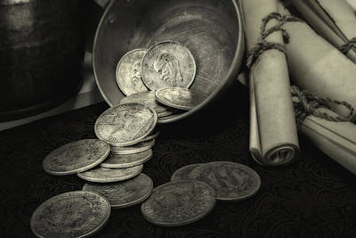 Spill Photograph - Loose Change Still Life by Tom Mc Nemar