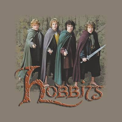 The Shire Digital Art - Lor - Hobbits by Brand A