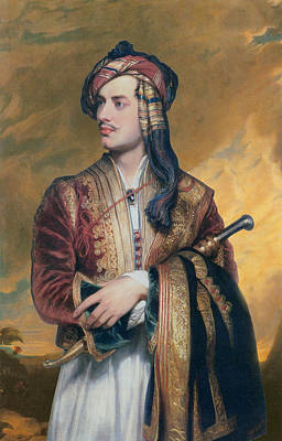 Frank Sinatra - Lord Byron in Albanian Dress  by Thomas Phillips