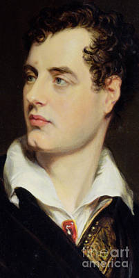 White Shirt Painting - Lord Byron by William Essex