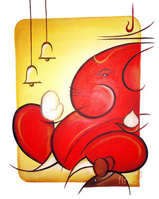 Modern Ganesha Painting - Lord Ganesha by Art 'n' Soul