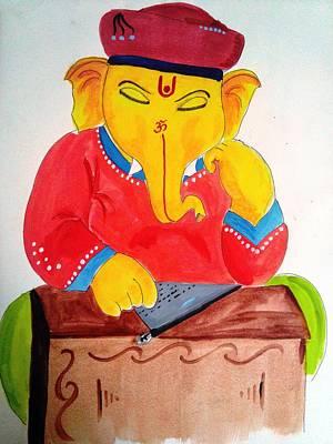 Mahabharata Painting - Lord Ganesha by Vinayak  Thorat