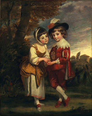 Lord Henry Spencer And Lady Charlotte Art Print by Sir Joshua Reynolds