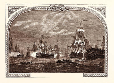 Lord Drawing - Lord Howes Victory, Off Ushant, June 1st by French School