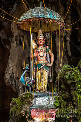 Lord Murugan Statue Art Print by Adrian Evans