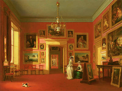 Lord Northwicks Picture Gallery At Thirlestaine House Art Print by Litz Collection