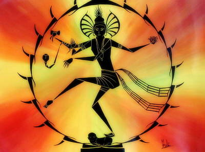 Nataraja Painting - Lord Of Dance by Chan Siva