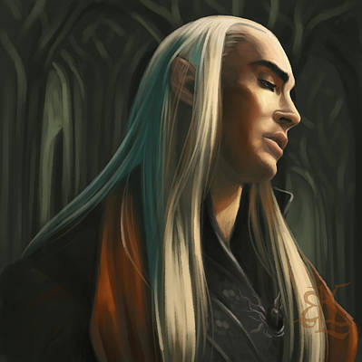 Jrr Digital Art - Lord Of The Woodland Realm by Lydia Kinsey