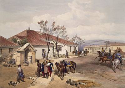 Messenger Drawing - Lord Raglans Head Quarters At Khutur by William 'Crimea' Simpson