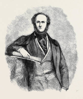 Lord Drawing - Lord Ravensworth From A Photograph By John Watkins by English School
