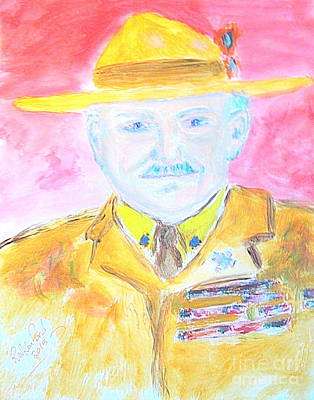 Thomas S. Monson Painting - Lord Robert Baden Powell And Scouting 2 by Richard W Linford