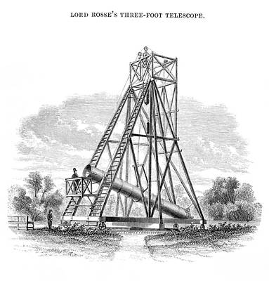 Hartwell Photograph - Lord Rosse's 3-foot Telescope by Royal Astronomical Society