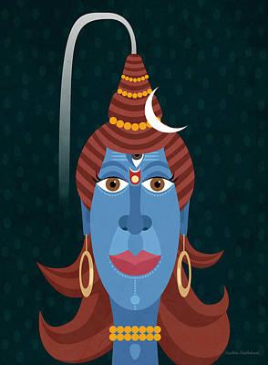 Lord Shiva - Transformer Or Destroyer Art Print by Sachin Sachdeva
