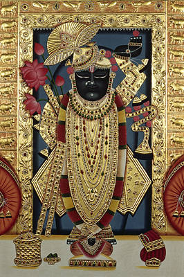 Shri Krishna Painting - Lord Shreenathji  by Dinodia
