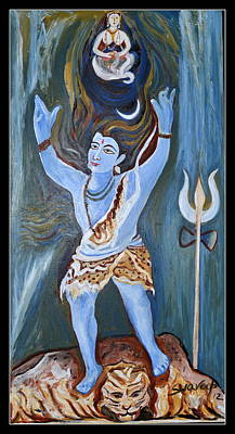 Painting - Lord Siva-beholder Of Ganges by Anand Swaroop Manchiraju
