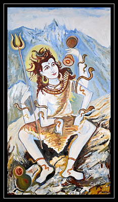 Painting - Lord Siva-the Creator by Anand Swaroop Manchiraju