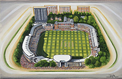 Acrylic Image Painting - Lords Cricket Ground by D J Rogers