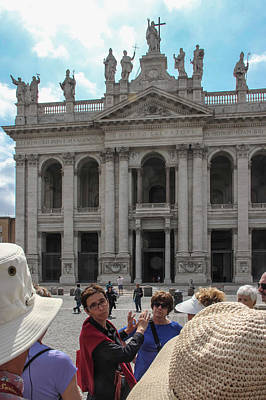 Photograph - Loredana Orientation At St John Lateran - June 3 by Dwight Theall