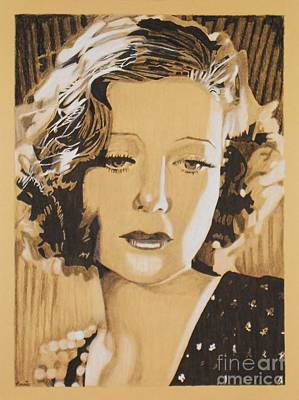 Mixed Media - Loretta Young by Bonnie Cushman