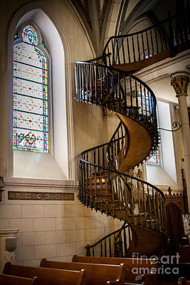 Loretto Chapel Staircase Art Print by Jim McCain