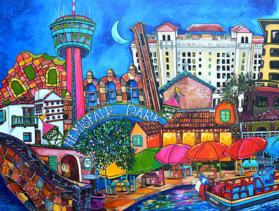 Pat O Briens Painting - Lorfings San Antonio by Patti Schermerhorn