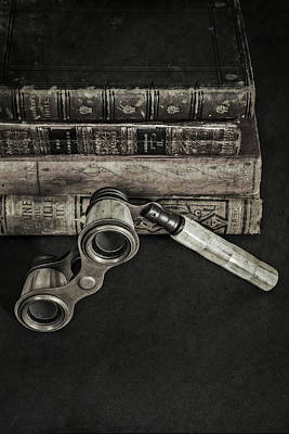Lorgnette With Books Art Print