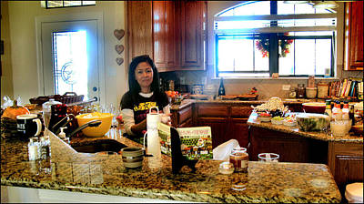 Photograph - Lorna Kitchen Busy 2009 by Glenn Bautista