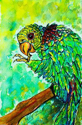 Painting - Loro Verde by Kelly     ZumBerge