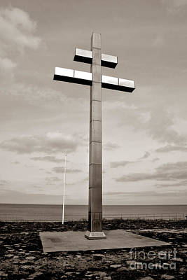 Historic Battle Site Photograph - Lorraine Cross In Normandy by Olivier Le Queinec