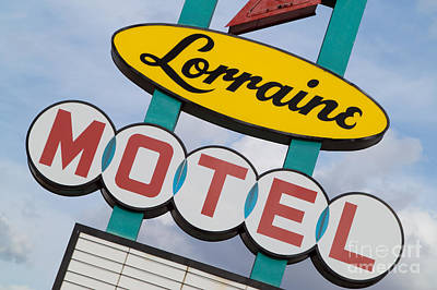 Photograph - Lorraine Motel Sign IIi by Clarence Holmes