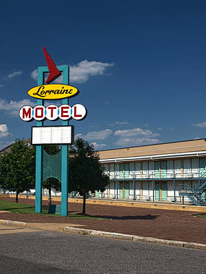 Photograph - Lorraine Motel Sign by Joshua House