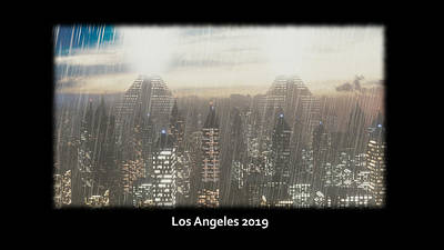 Electric Sheep Digital Art - Los Angeles 2019 by Brainwave Pictures