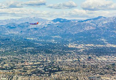 Photograph - Los Angeles Aerial View by Alex Potemkin