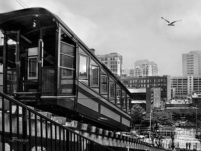 Los Angeles Angels Flight.bw Art Print