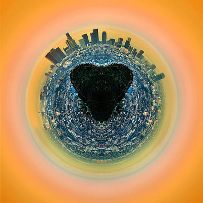 Circular Photograph - Love La by Az Jackson