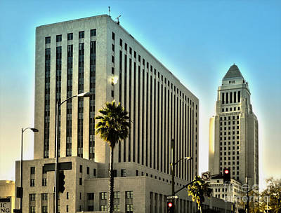 Los Angeles City Hall Art Print by Gregory Dyer