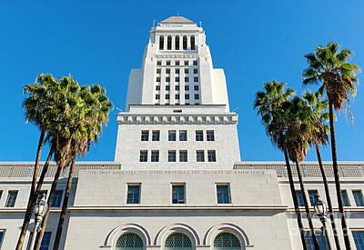 Los Angeles City Hall Art Print by Jamie Pham