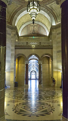 Photograph - Los Angeles City Hall Rotunda And Hall by Belinda Greb