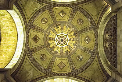 Photograph - Los Angeles City Hall Rotunda Ceiling by Belinda Greb