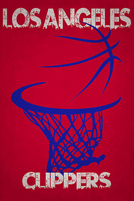 Los Angeles Clippers Hoop Art Print by Joe Hamilton