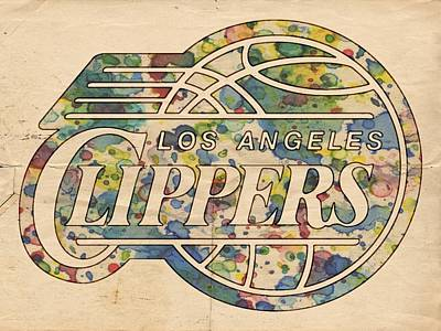 Basketball Painting - Los Angeles Clippers Poster Art by Florian Rodarte